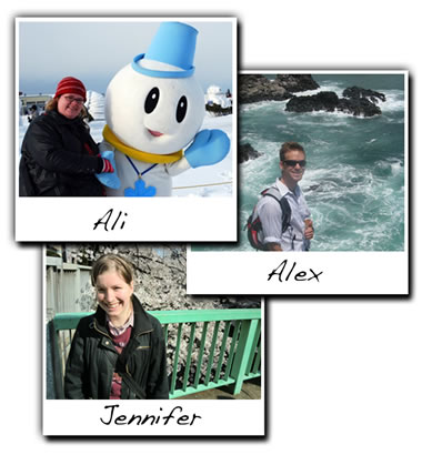Job Search Advisors: Ali, Alex and Jennifer